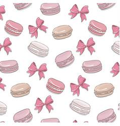 macaroon pattern sweet dessert biscuit cookies vector image