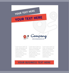 map route title page design for company profile vector image