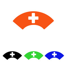 Medical visor flat icon vector