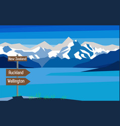 New zealand map country infographics sign vector