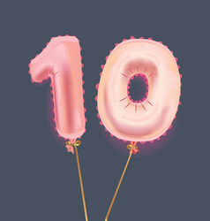 Number ten balloons vector