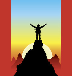 on top of success vector image