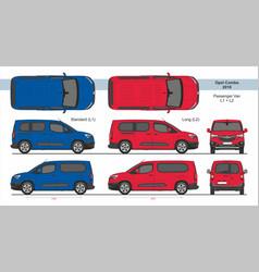 Opel combo passenger van l1 l2 2018-present vector