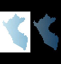 Peru map hex-tile mosaic vector