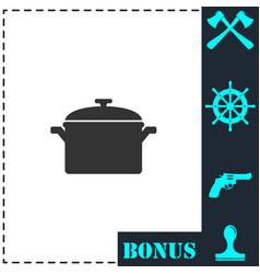 pot icon flat vector image