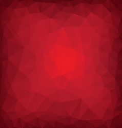 Red poly abstract vector image