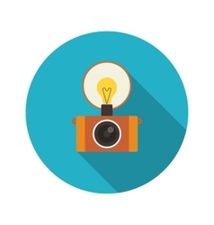 Retro flash camera vector image