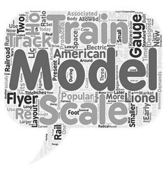 S Scale Model Trains text background wordcloud vector