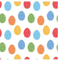 Seamless background ornamental easter eggs vector