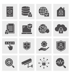 security icon set isolated for vector image