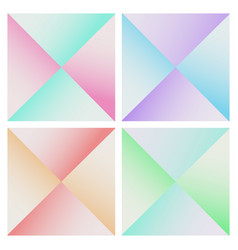 set of abstract pyramid colorful background vector image