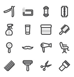 Set of icons on the theme of accessories vector