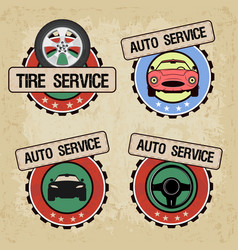 set of logos for car service vector image