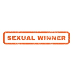 Sexual Winner Rubber Stamp vector