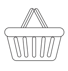 Shopping basket icon modern line sketch doodle vector image