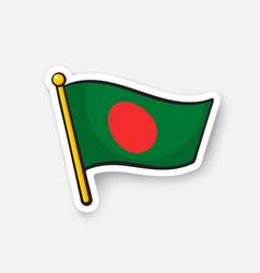 Sticker flag bangladesh vector
