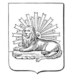 The great seal of persia is a seal of iran vector
