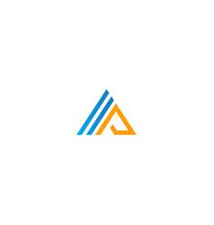 Triangle line business logo vector
