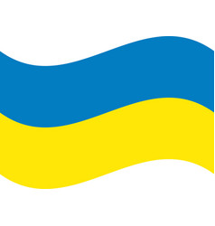 ukraine flag official colors and proportion vector image