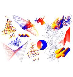 universal trend geometric shapes set vector image