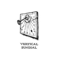 Vertical sundial vector