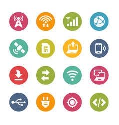 Web and mobile icons 6 - fresh colors series vector