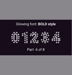 white glowing font in the outline style vector image