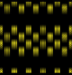 yellow tire tracks background vector image