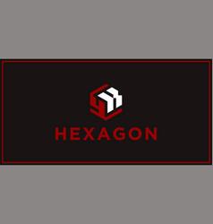 Yk hexagon logo design inspiration vector