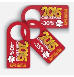 Price Tag Discounts Labels Sale Set Happy New Year vector image vector image