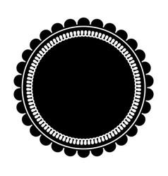 round label sticker emblem decoration pictogram vector image vector image