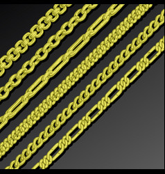 collection of chains vector image vector image