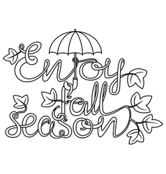 doodle lettering vector image vector image