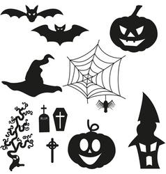 Halloween Silhouetten - Set vector image