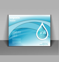 water drop template vector image vector image