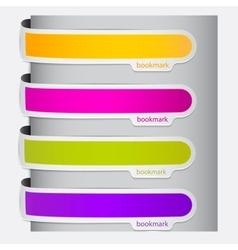 Colorful bookmarks for speech Colorful paper vector image