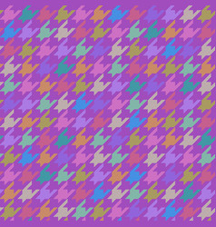 houndstooth pattern multicolor vector image