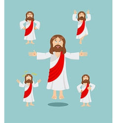 Jesus set of movements Jesus set of poses Jesus is vector image