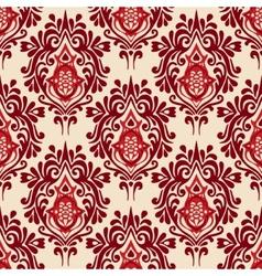 Luxury Damask seamless pattern vector image