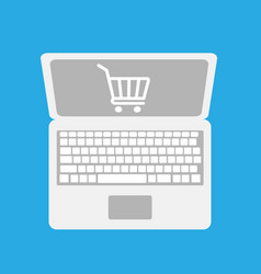 online shopping icon vector image