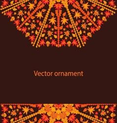 autumn circular ornament vector image vector image