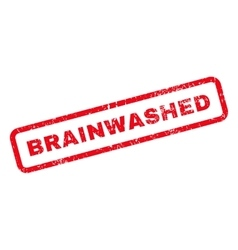 Brainwashed text rubber stamp vector