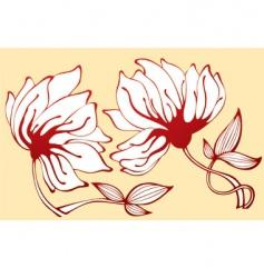 flower vector image