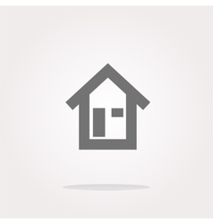 house button signs icons set vector image