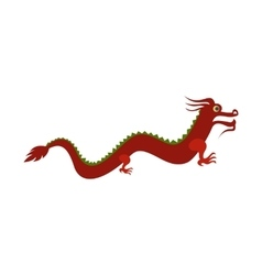Red chinese dragon icon flat style vector image