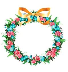 retro wreath vector image