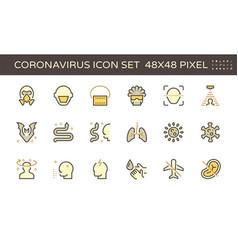 20200125 coronavirus icon yellow vector image