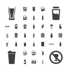37 beer icons vector