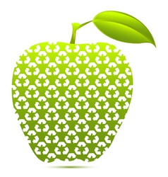abstract apple icon vector image