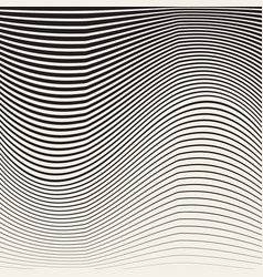 abstract black and white halftone vertical waves vector image